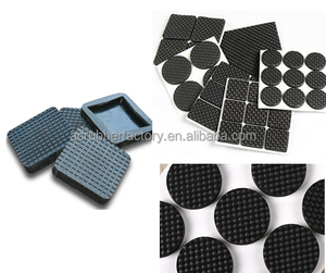 Rubber furniture floor pads adhesive protection anti-sound 3m glue Trade Assurance rubber cushion pad