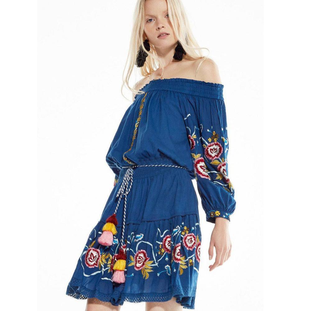 Vendita calda Cinese produttori di abbigliamento nuovo disegno delle  signore vestiti casual spalla off vestito 7b977a50a01