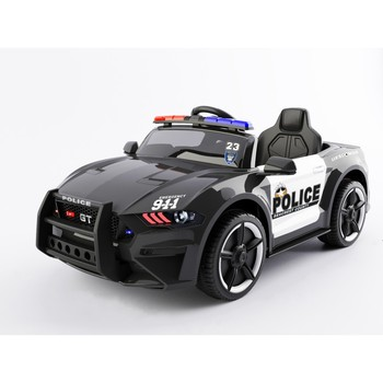 SparkFun Fashion kids police car toys ride on car police with Remote Control, 2 Speeds, LED Lights