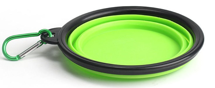 Foldable Non-stick Silicone Feeding Food Travel Pet Bowl, Collapsible Dog Bowl Folding Pet Water Bowl