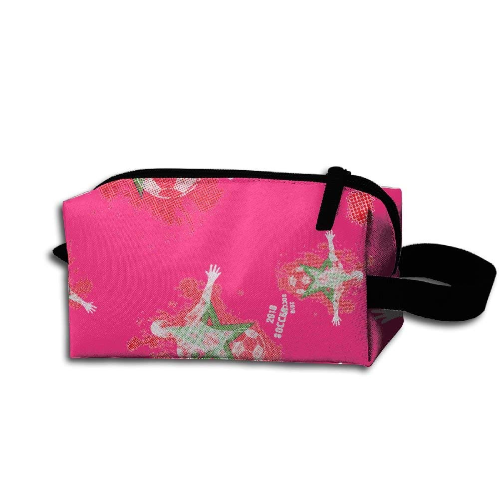 6f0a1bc71f Get Quotations · GT BAG CHU Morocco See You 2018 Soccer Toiletry Bag Unisex  Durable Cosmetic Bag For Mens