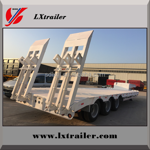 Hot sale!! 100 ton 3 axles heavy load lowboy truck trailer for transportation companies