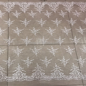 Custom fancy embroidery swiss african french net lace dress fabric for bridal
