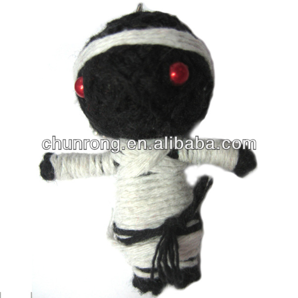 Unique Handmade Judo Boy Dolls; Antique Fabric string voodoo doll keychain
