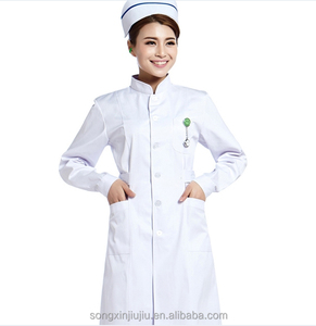 Breathable Hospital Uniform Short Sleeve Cotton Doctor Nurse Uniform
