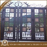 ornamental iron work / wrought metal gate design / steel main gate