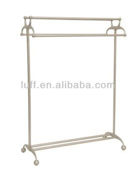 High Quality Free Standing Brushed Nickel Towel Racks Bathroom