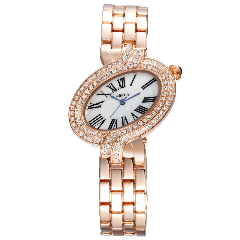 Oval Alloy Case Weiqin 4687 2016 Christmas Present Watch Lady Watch