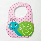 Customized low price PEVA waterproof baby bibs with food catcher pocket
