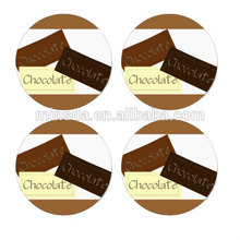 Custom Cheaped Chocolate Rim Tds Sticker In Labels Printing