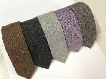 coffee wool ties small mixed wholesale