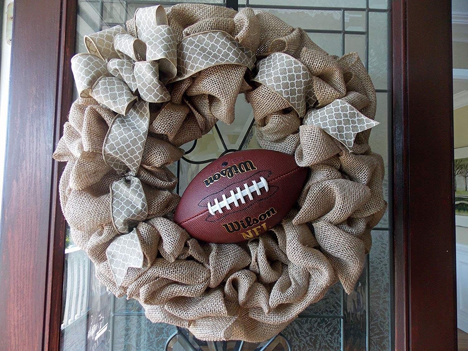 Football Wreath-Fall Football Wreath-Fall Wreath-Fall Wreaths for Front Door-Fall Door Wreath-Fall Burlap Wreath-Front Door Decor-Football-Fall Door Wreaths-Front Door Wreaths