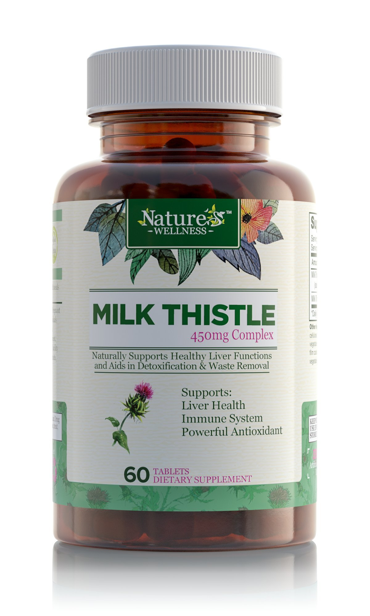 Milk Thistle | 80% Standardized Silymarin Extract for Maximum Liver Support - Detox, Cleanse & Maintain Your Liver – Extract & Seed Complex - Natural Herbal Supplement | 60 Tablets