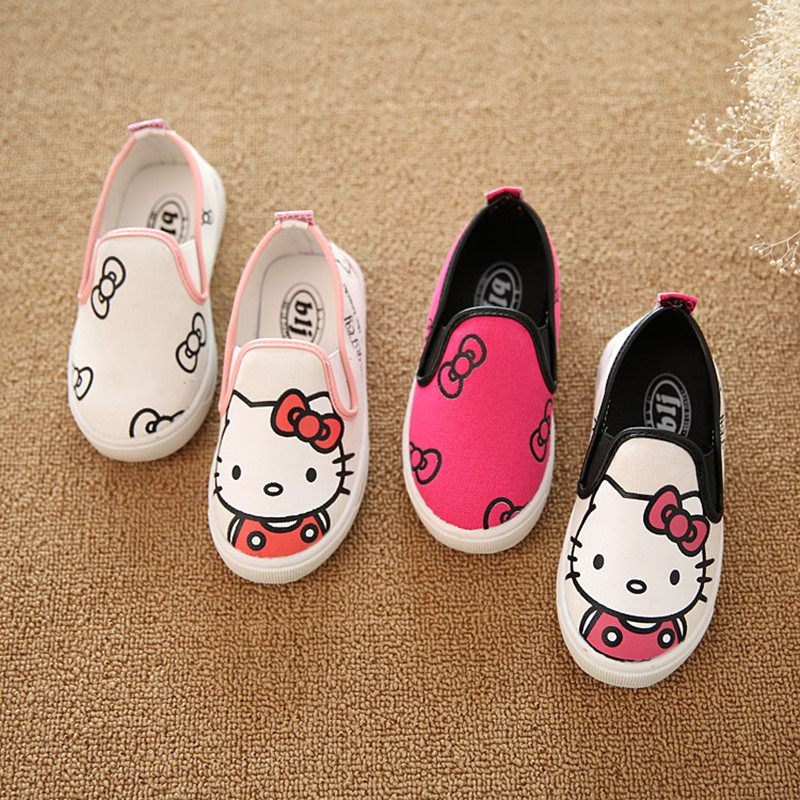 2016 New Kids Cartoon Anime Figure Despicable Shoes Boys Girls Hand Painted Canvas Shoes Children Casual