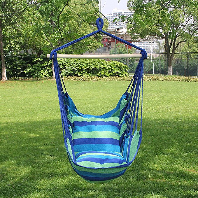 Garden Swing Hammock Helicopter Hanging Chair Seat Sun Lounger Outdoor cushion