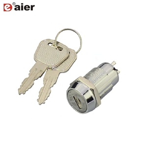 K19-06 Barrel Key Switch Electronic Key Door Lock
