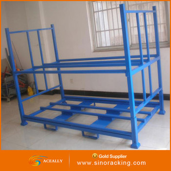Foldable stack steel storage tire pallet racking/rack
