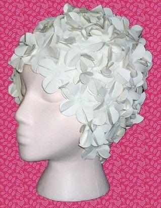 ab7c8f70f72 Retro Floral Swim Cap With Flower Petals - Buy Swim Caps Product ...