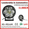 Super bright lifetime warranty IP68 waterproof 70W automotive led work lights, led driving lights