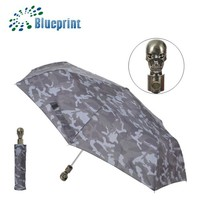 Custom Fashion Unique Umbrellas With Skull Head Handle