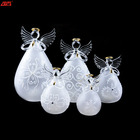 Led glass christmas ornament with angel wings
