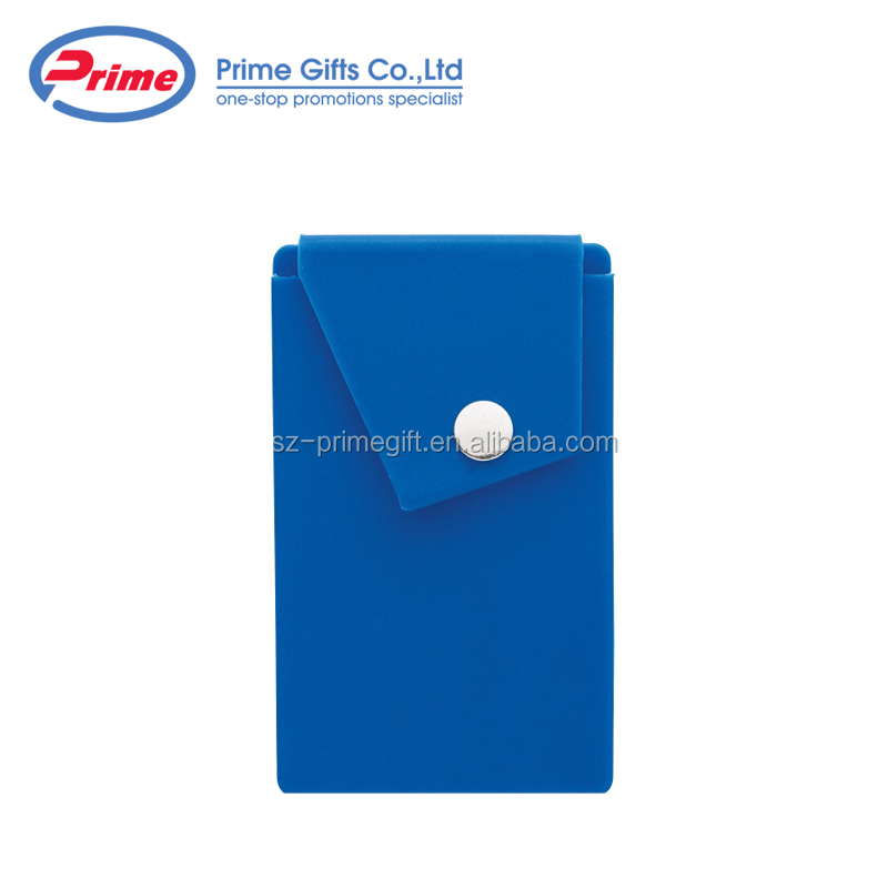 Hot Sale Attendant Adhesive Cell Phone Wallet with Snap Pocket