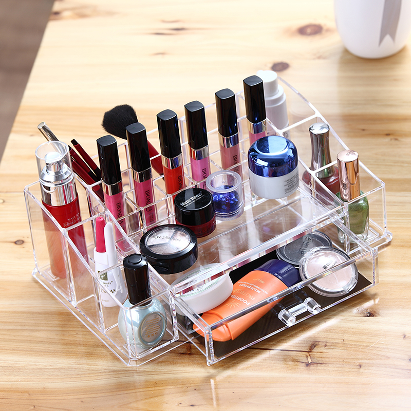 2016 beauty acrylic makeup organizer / clear cosmetic display / mac makeup organizer