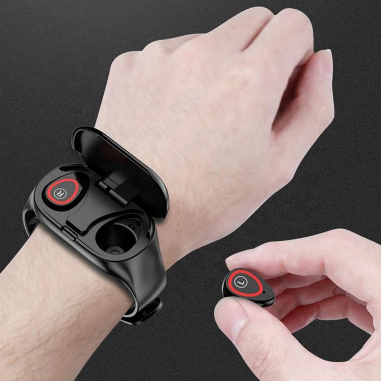 Wearable M1 smartwatch smartwatches wristband AI smart BT 5.0 dual earbuds bracelet