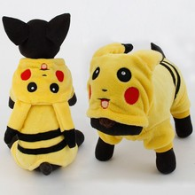 New Arrival Dogs Clothes Cute Cartoon Pikachu Design Cosplay font b Pets b font Costume Dog