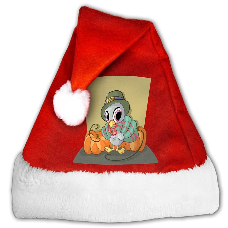 Get Quotations · Bdna Velvet Santa Claus Hat Cute Cartoon Turkey Merry Christmas  Hats Adults Children Costume XMas Decor cf9310285817