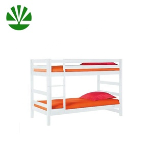 hotsale cheap price solid pine wood white bed with high quality SMETA audit