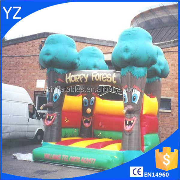 Inflatable happy forest castle
