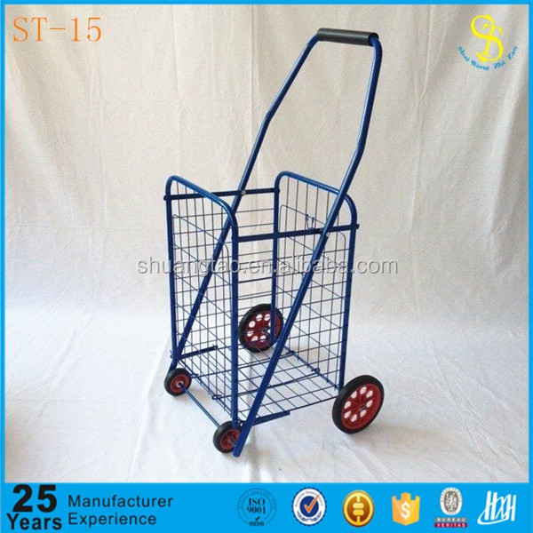 Eco-friendly disabled folding shopping cart with 4 wheels