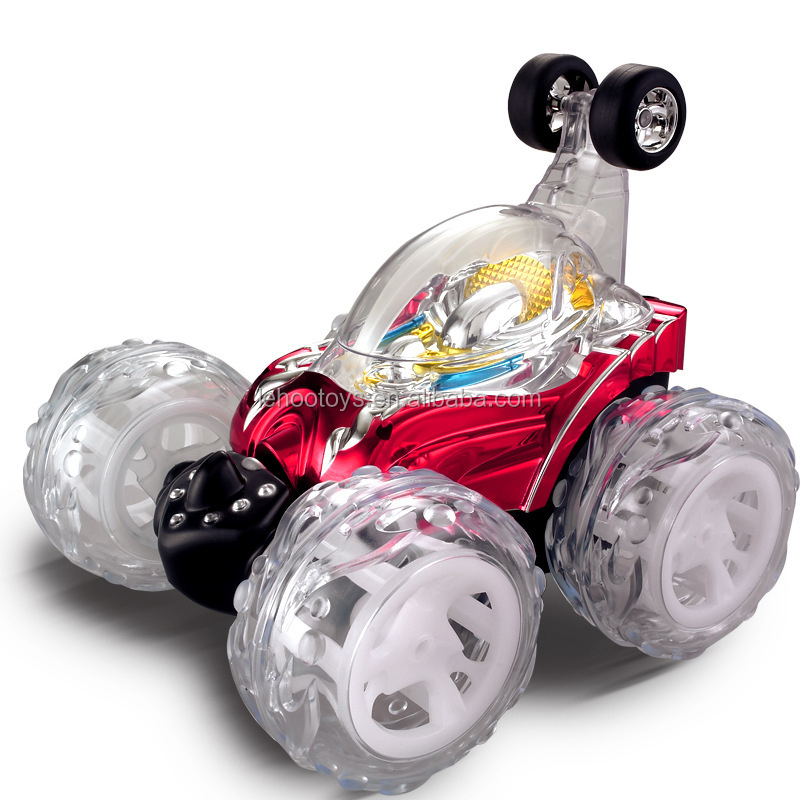 Wholesale hot car RC Stunt Car 360 degree rotate flashing wheels with music with light for kids