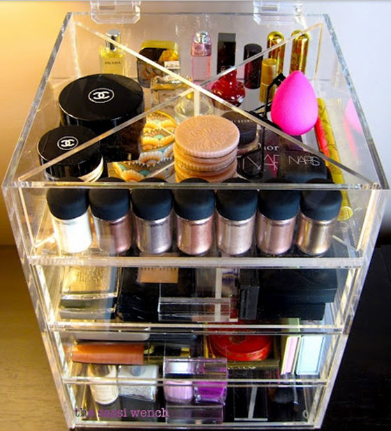 Acrylic Plastic Storage Boxes For OPI Nail Polish With Drawer