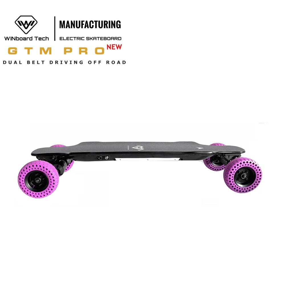 WINboard GTM PRO large battery capacity 9AH light weight dual belt motor all terrain off road electric skateboard