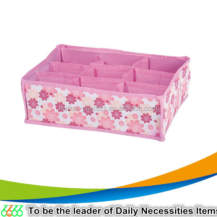 Home & garden cardboard storage box design yiwu market non woven drawer storage box foldable