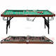 Pool Table 6ft Folding Function Snooker Billiard Set Furniture Cues Balls Triangle Chalk
