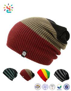 Crochet Rasta Beanie Tam Hat Jamaica Colorful Rasta Slouchy Fleece Beanie  Hat Knitting Custom logo 98bad39b679d