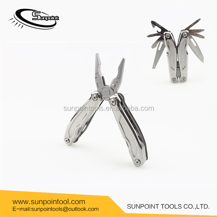 Top quality all stainless steel multi tool plier Multi functional pliers folding tools, mirror finish