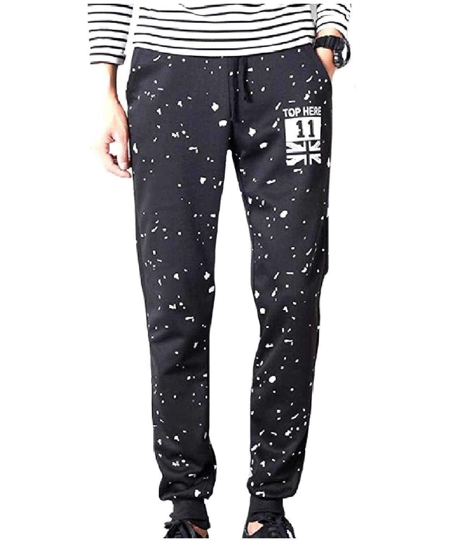 f8a13952a2 Get Quotations · QueenHandsMen QueenHands Men Stylish Printed Cozy Harem Pants  Casual Pockets Mid Waist Jogger Sport Pants