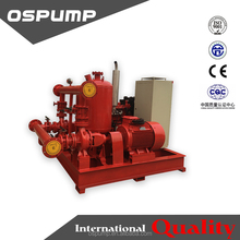 1000GPM 8-10 bar diesel and electric fire pump set with jockey pump