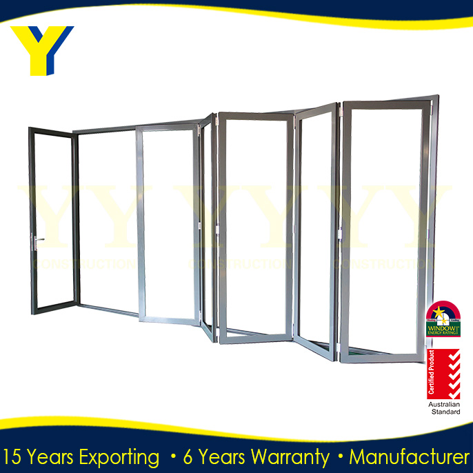 Shanghai YY double glazed aluminum insulated folding door partition for banquet hall