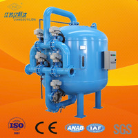 Auto backwash media sand filter for drip irrigation system