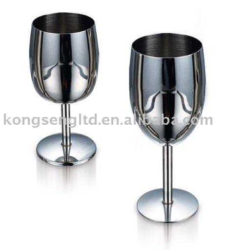 verre a vin en acier inoxydable