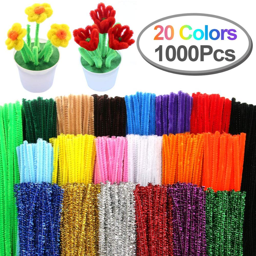 1000 pcs Craft Pipe Cleaner DIY Gift Set
