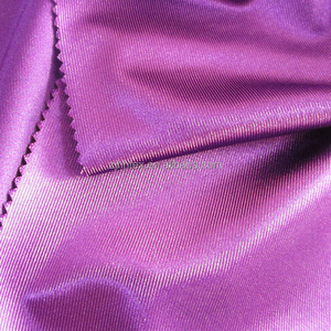 Bright color paid poly dazzle fabric material for acdemic gowns