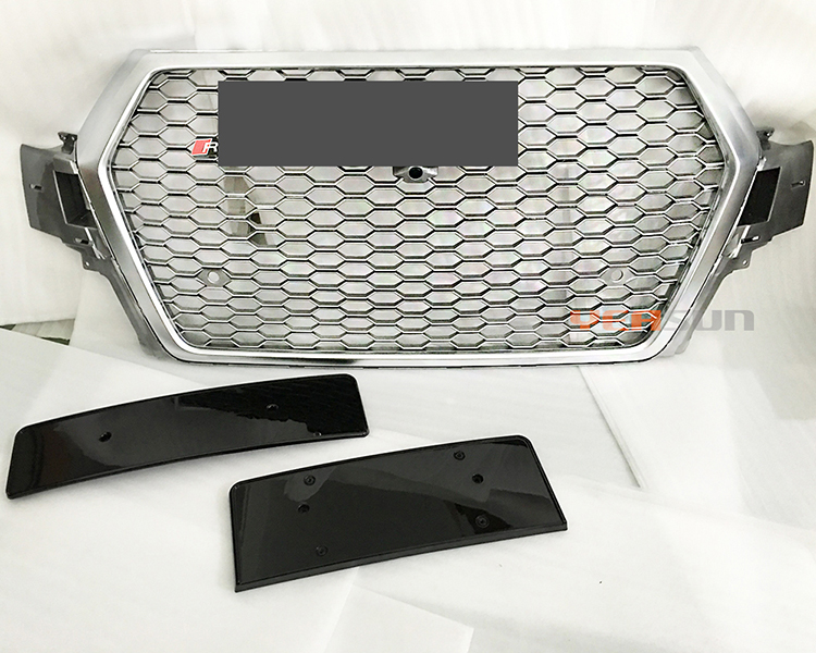 RSQ7 Chromed Front Grille auto tunning parts for Audi Q7 RSQ7 bodykits 2015 2016