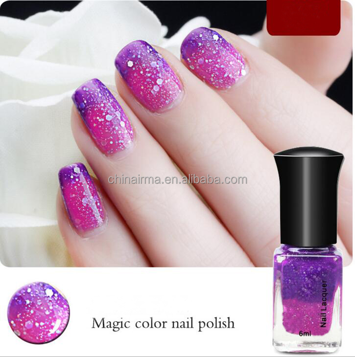 Magic Color Peel Off Water Base Chamleon Nail Lacquer Glass Bottle ...