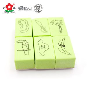 plastic stamping/cartoon eva stamp for kids